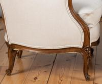 Large French Louis XV Style Walnut Bergere Upholstered Armchair (11 of 11)