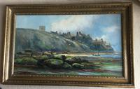 Henry Hadfield Cubley Oil Painting 'Whitby from the Shore' (2 of 3)