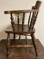 Victorian Ash & Elm Smokers Bow Chair (4 of 8)