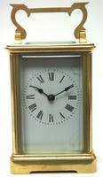 Classic Antique French Timepiece 8-day Bell Striking Carriage Clock