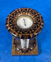 Victorian Burr Maple Thermometer & Compass by Thomas Barton (9 of 14)