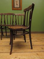 Four Antique Polish Thonet Style Bentwood Bistro Chairs with Pressed Seats (8 of 22)