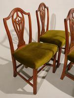 A Set of 4 George III Period Hepplewhite Mahogany Chairs (2 of 3)
