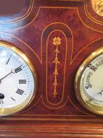 Top Quality Antique Inlaid Clock Barometer (5 of 10)