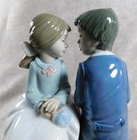 """Primer Amor"" or ""First Love"" Hand Modelled Porcelain Figure by Nao (7 of 9)"