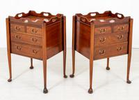 Pair of  Mahogany Queen Anne Style Bedside Cabinets (3 of 12)
