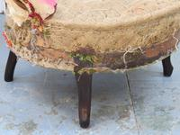 Pair of Antique Fireside Slipper Chairs for re-upholsery (3 of 9)