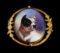 Victorian Enamel Bulldog Brooch (2 of 11)