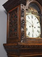 Flemish Carved Oak Grandfather Clock (3 of 13)