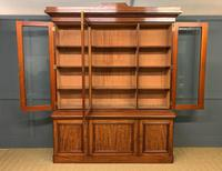 Fine Quality Figured Mahogany Library Bookcase (3 of 17)