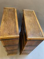 Pair of Globe Wernicke Oak Bookcases (16 of 16)