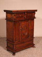 Small Italian Renaissance Credenza in Walnut c.1600 with Coat of Arms (5 of 11)