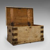 Antique Mail Chest, English, Pine, Carriage, Merchant, Victorian c.1880 (7 of 12)