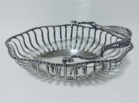 Antique Georgian 18th Century Solid Silver Swing Handle Bread Basket 1774 (7 of 19)