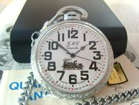 Vintage Pocket Watch 1970s Railroad 9ct White Gold Plated Swiss & West Germany Nos (3 of 12)