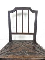 Pair of Antique Carved Oak Hall Chairs (6 of 13)
