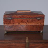 Georgian Mahogany Sarcophagus Shape Tea Caddy (8 of 9)