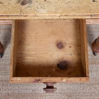 19th Century Pine Dining Table Fitted Drawer (3 of 11)