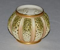 1903 Edwardian Royal Worcester Hand Painted Reticulated Vase, Shape 202 (2 of 5)