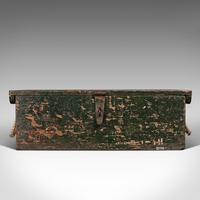 Small Antique Mariner's Trunk, English, Pine, Chest, Late Victorian c.1900 (3 of 12)
