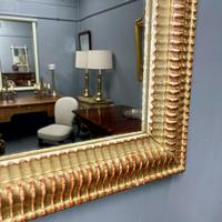 French Rippled Gilt Overmantle Mirror (7 of 8)