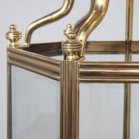 Victorian Cast Brass & Copper Hall Lantern (4 of 5)