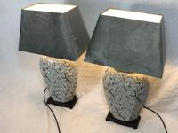 Pair Chinese Cantonese Porcelain Table Lamps With Shades Lighting Christmas Gift (32 of 51)