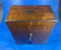 Victorian Brassbound Oak Decanter Box (4 of 20)