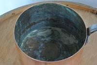 Quality Victorian Copper Saucepan & Lid Castellated Seam 8 Inch Diameter (7 of 7)