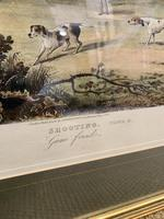 Set of Four 19th Century Coloured Prints of Shooting Scenes (6 of 6)