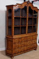 Dutch Bombe Bookcase Vitrine Display Cabinet on Chest Glazed (16 of 17)