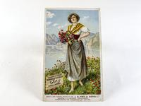Rare J. S. Fry & Sons LTD. French Postcard - Fry's Chocolate & Cocoa