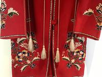 Very Unusual Vintage Felt Coat  Decorated with Embroidery Possibly Turkish or Greek (3 of 7)