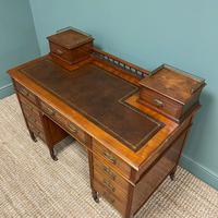 High Quality Victorian Maple & Co Antique Pedestal Desk (5 of 9)
