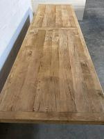 Enormous French Bleached Oak Farmhouse Dining Table (19 of 38)