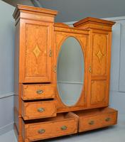 Stunning Victorian Satinwood & Marquetry Compactum Wardrobe (8 of 24)