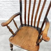 Large Windsor Lathback Armchair c.1890 (5 of 8)
