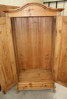 1900s Country Pine 2 Door Dome Top Wardrobe with Base Drawer (2 of 4)