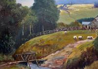'Sheep In The Yorkshire Dales' - Original 1943 Vintage Landscape Oil Painting (9 of 12)