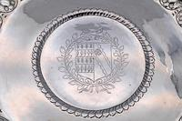 Extremely Rare Commonwealth Sterling Silver Porringer Stand or Salver, London 1656 (2 of 5)