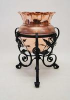 Art Nouveau  Wrought Iron and Copper Planter, Jardinière (13 of 16)