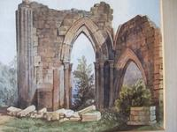 19th Century Watercolour of Newminster Abbey, Northumberland. (3 of 4)