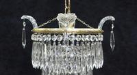 Italian Art Deco Three Tier Crystal Glass Chandelier (3 of 7)