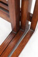 Small Art Deco Nest of Oak Tables (11 of 13)