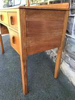 Antique Heals Oak Dressing Table & Stool (5 of 12)