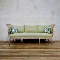 Elegant 18th Century Gustavian Dry Scraped Sofa Lindome c.1790