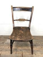 Pair of 19th Century Elm Bar Back Farmhouse Chairs (5 of 7)