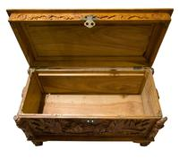 Early 20th Century Chinese Style Carved Camphorwood Chest (6 of 11)