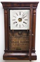 Antique American Ogee Wall Clock – Weight Driven Wall / Mantel Clock (5 of 12)