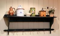 French Painted Wall Shelves With Coat Hooks (6 of 9)